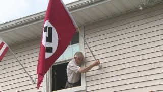 Man flying Nazi flag to protest Obama