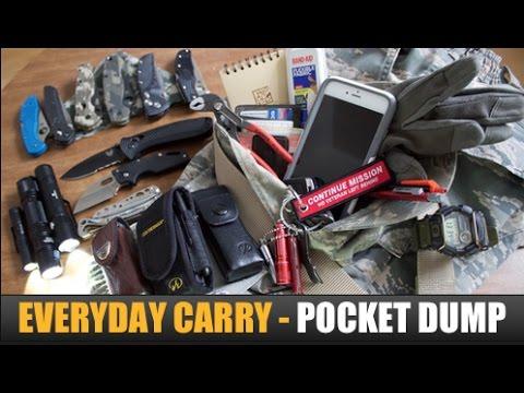 EDC (Everyday Carry) Gear Update 2017   EDC Gear, Pocket Knives, & Flashlights -- Pocket Dump 2017