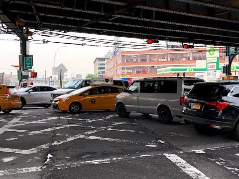 ⁴ᴷ NYC Traffic Blocking the Box / Gridlock 【1 Hour】- May 17, 2018 at Queens Boulevard & Skillman Av