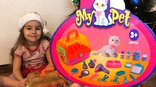 Playset Toys Unboxing And Playing With My Pet Cat