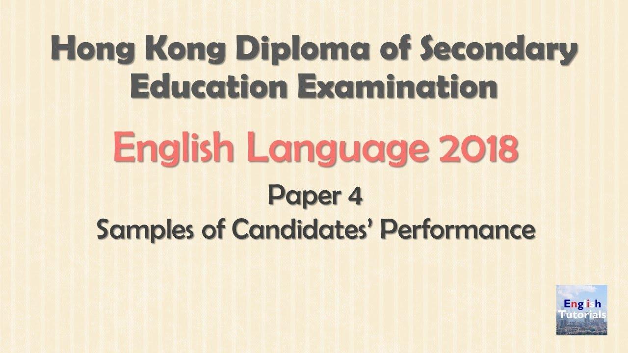 Bestseller: Dse English Speaking Past Paper