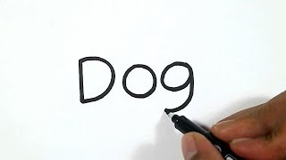 How to Turn Words Dog into a Cartoon