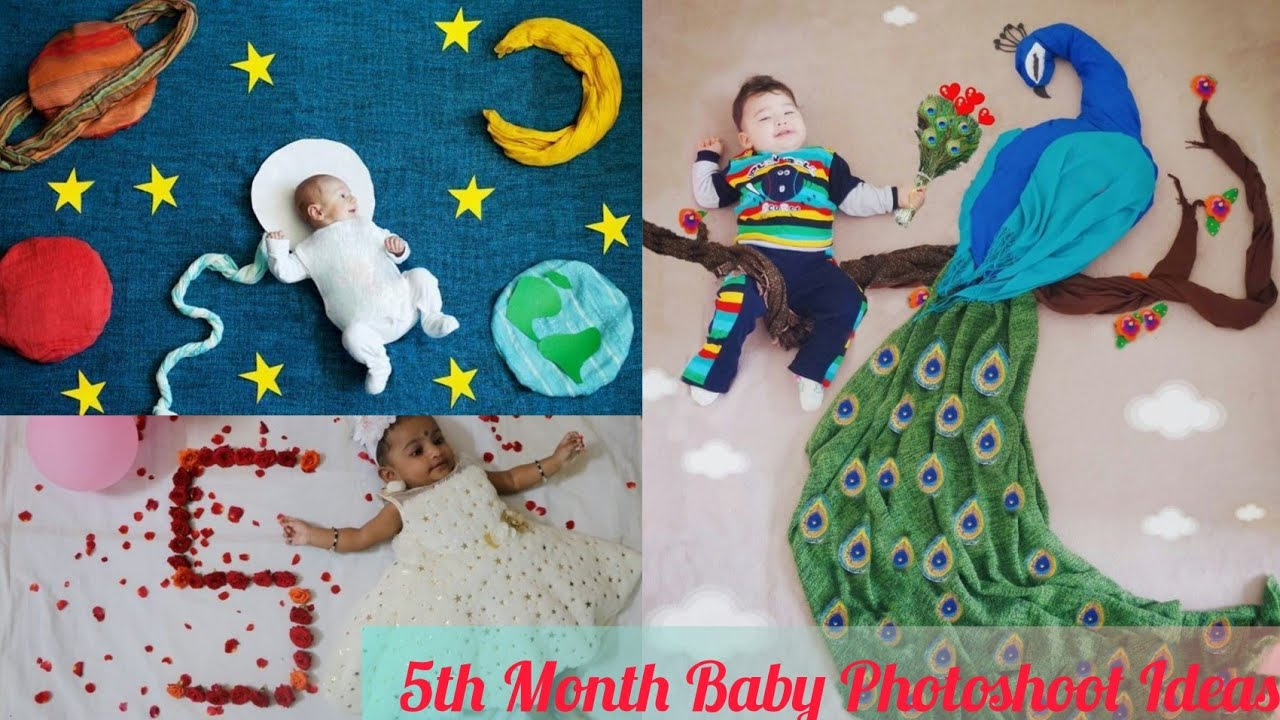 7th Month Baby Photoshoot At Home Monthly Baby Photoshoot Ideas Creative Babyphotoshoot Youtube