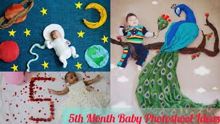 5th Month Baby Photoshoot at Home | Monthly Baby Photoshoot Ideas | Creative Babyphotoshoot