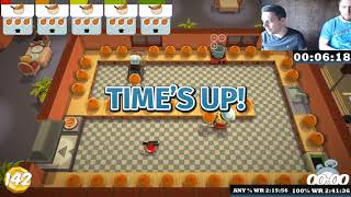 World Record Any% and 100% Overcooked 2:11:56