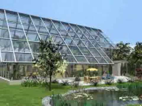 Architektur Visualisierung - Archimedis Glashaus - YouTube