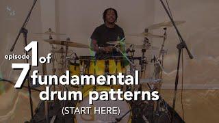 Drumming For Beginners Video Series - 7 Fundamental Drum Patterns  |  1 of 7  |  Stefan Brown