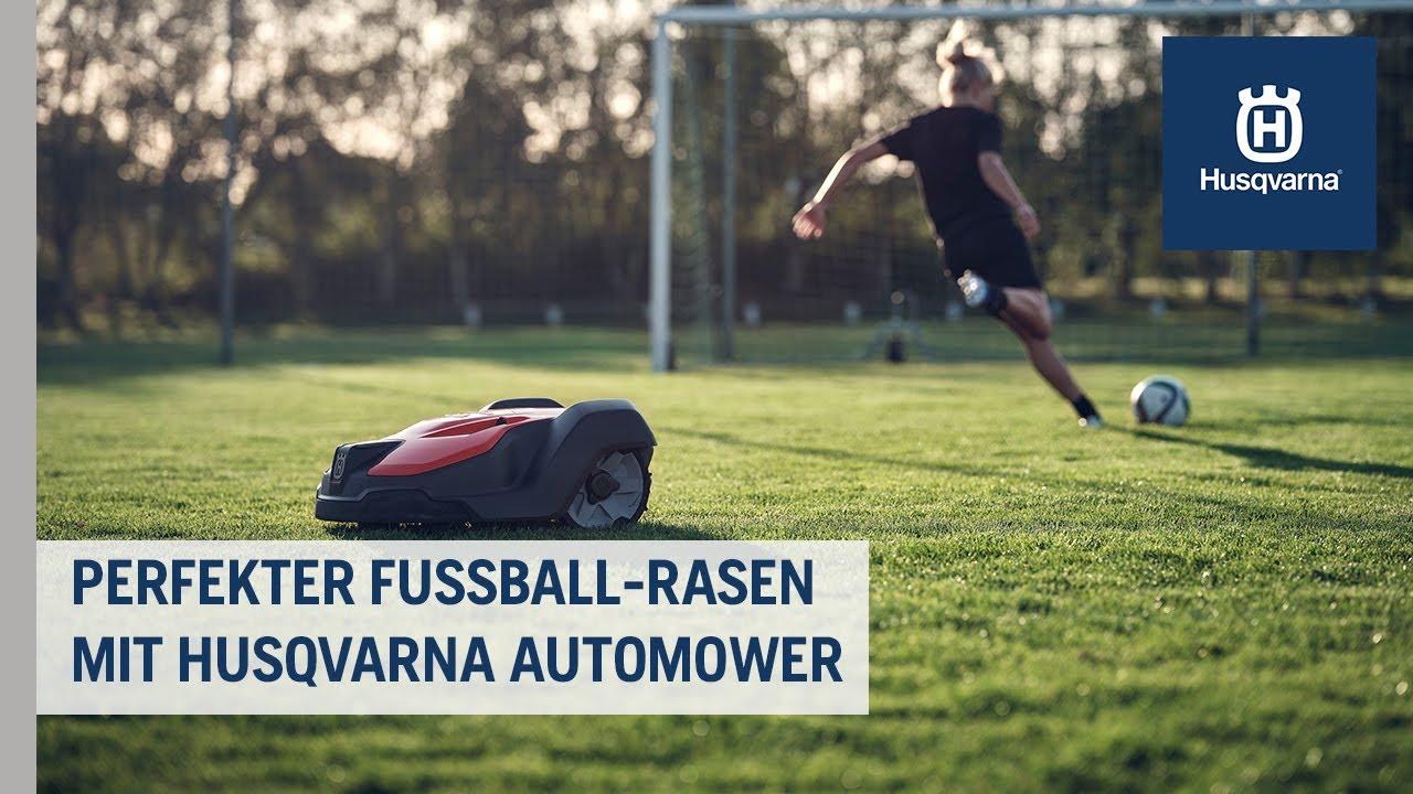 Automower® Mähroboter: Rasenpflege auf dem Fußballplatz | Husqvarna Grünflächen