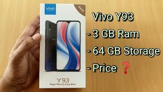 Vivo Y93 With 3 GB Ram amp 64 GB Storage Unboxing And Price