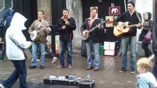 Hand Me Down My Bible - The Dubliners (Street band in downtown Galway)