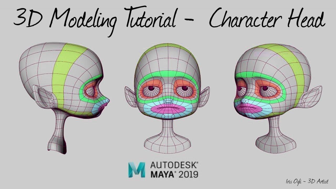 Iris Ogli - 3D Modeling Tutorial -Modeling Character head in