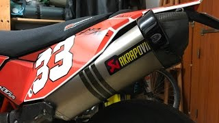 Reconditionnement Akrapovic sur KTM 690 SMCR
