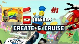 ЛЕГО ГРА Юніорс! Мультик гра ЛЕГО ЗБЕРИ всіх чоловічків/деталі машин і вертольота LEGO Juniors 0+