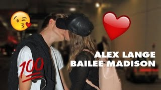 Alex Lange and Bailee Madison Cute moments #2