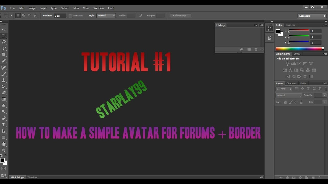 How To Make A Simple Avatar For Forums + Border [eng]