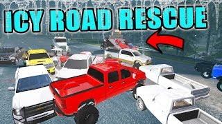 20 CAR PILE UP | EMERGENCY RESCUE TOWING | ICE STORM | FARMING SIMULATOR 2017