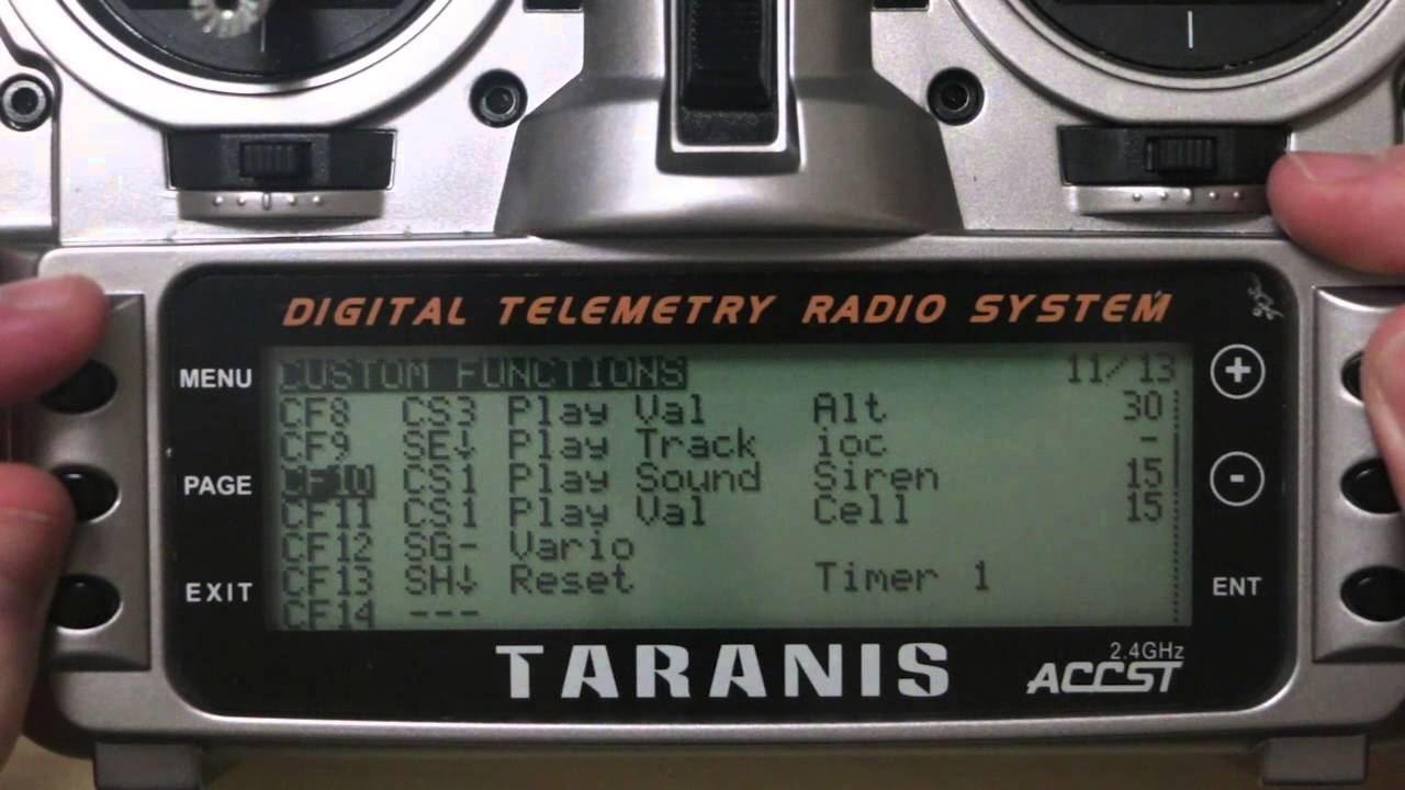 Setting up Telemetry and Alerts on Taranis X8R