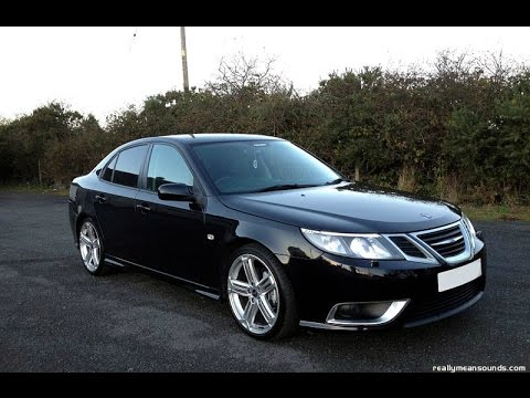 SAAB 9-3 aero B207R modified sleeper welsh black mountain road .