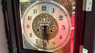 Custom Cheap Wood Grandfather Clock With Hermle Triple Chime Movement