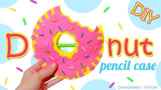 DIY Donut Pencil Case – How To Make a Pencil Case Shaped Like A Doughnut