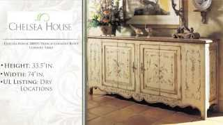 Chelsea House 380055 French Country Bufft Console Table