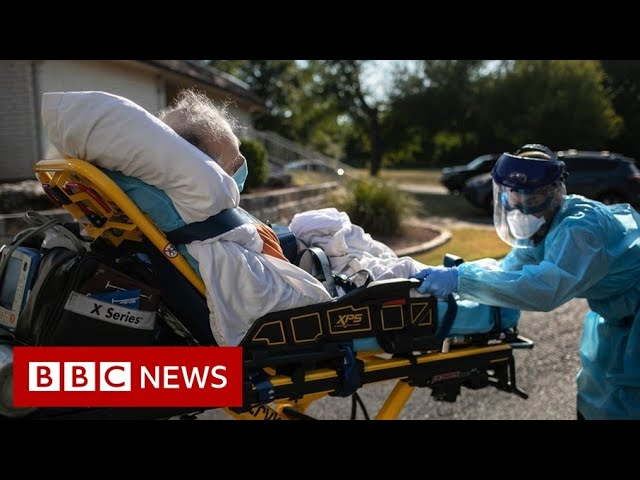 US hits record Covid cases and hospitalisations - BBC News