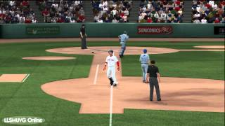 MLB 2K12 gameplay Red Sox vs Blue Jays