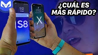 FACE ID iPhone X vs Galaxy S8 PLUS CUAL ES MAS RAPIDO