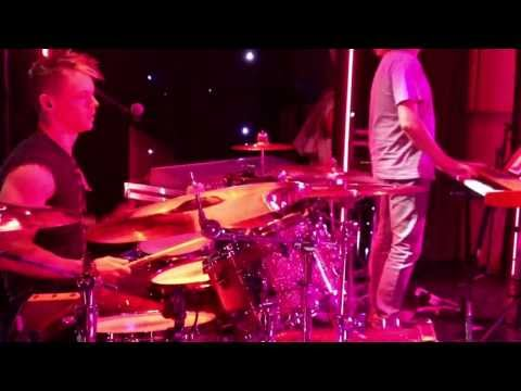 Tim Owen on Drums, playing 'Bruno Mars - Locked out of heaven'.