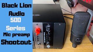 Black Lion Audio B12A mkII vs Auteur mkII 500 series mic pre