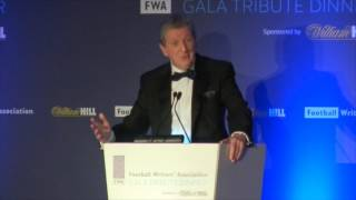 roy hodgson s tribute to wayne rooney at the fwa tribute night