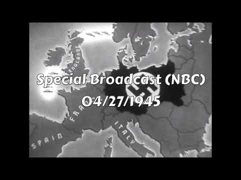 WW2 Radio News, 1945: The Fall Of Germany (1945, Part 2)