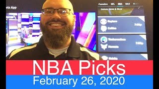 NBA Picks (2-26-20) | Part 2 of 2 | Pro Basketball Expert Predictions & Daily Vegas Betting Lines