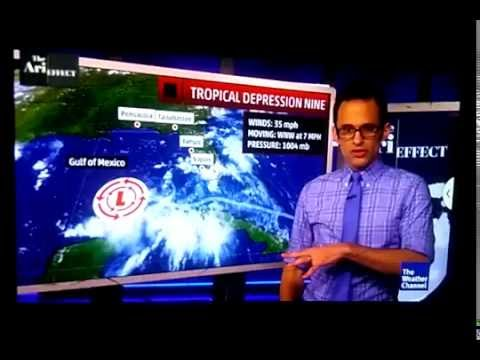 Tropical Depression 9 hits in Florida