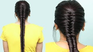 How to Make Fishtail Braid Hairstyles    Easy Braided Hairstyles    Party Hairstyles Tutorials