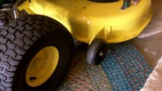 How To Adjust The Deck on a John Deere D100/L100 Series Lawn Tractor