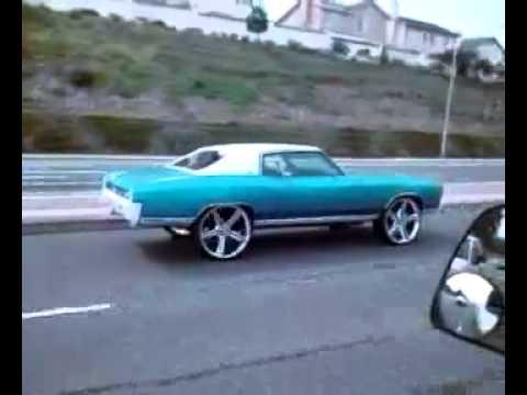 My 1971 Monte Carlo On 26 Inch Iroc Wheels Youtube