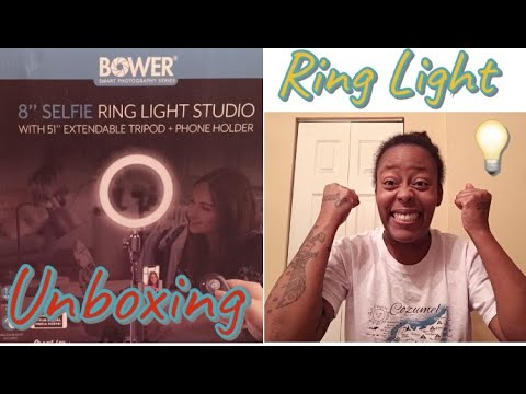 """BOWER"" RING LIGHT STUDIO REVIEW/UNBOXING
