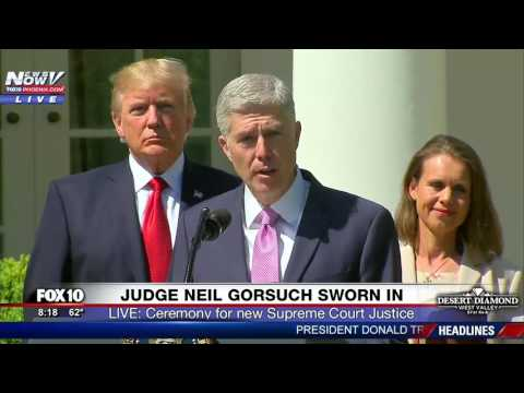 HISTORIC: Supreme Court Justice Neil Gorsuch Takes Oath of Office, Gives Speech in Rose Garden (FNN)