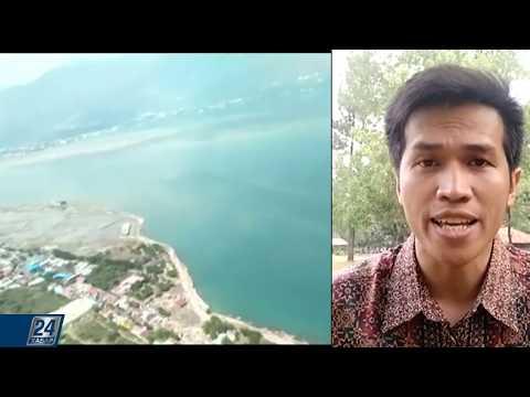 Шокирующие кадры цунами в Индонезии