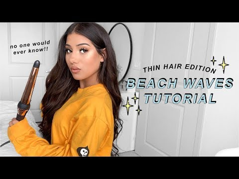BEACH WAVES TUTORIAL FOR THIN HAIR | Zoe Cavey thumbnail