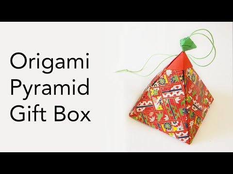 Tutorial for Origami Pyramid Gift Box (that opens and closes)