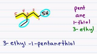 Naming Thiols ie Sulfur Alcohols