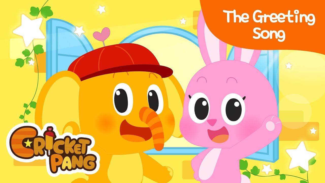 The Greeting Song | Greetings song | Good Habits | CricketPang Songs for Kids