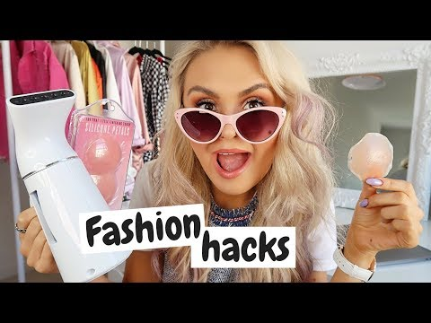 FASHION HACKS // How to save money?! // NIPPLE COVERS & MINI STEAMERS