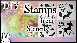 DIY: How to make foam stamps using stencils/ dollar tree craft / tutorial