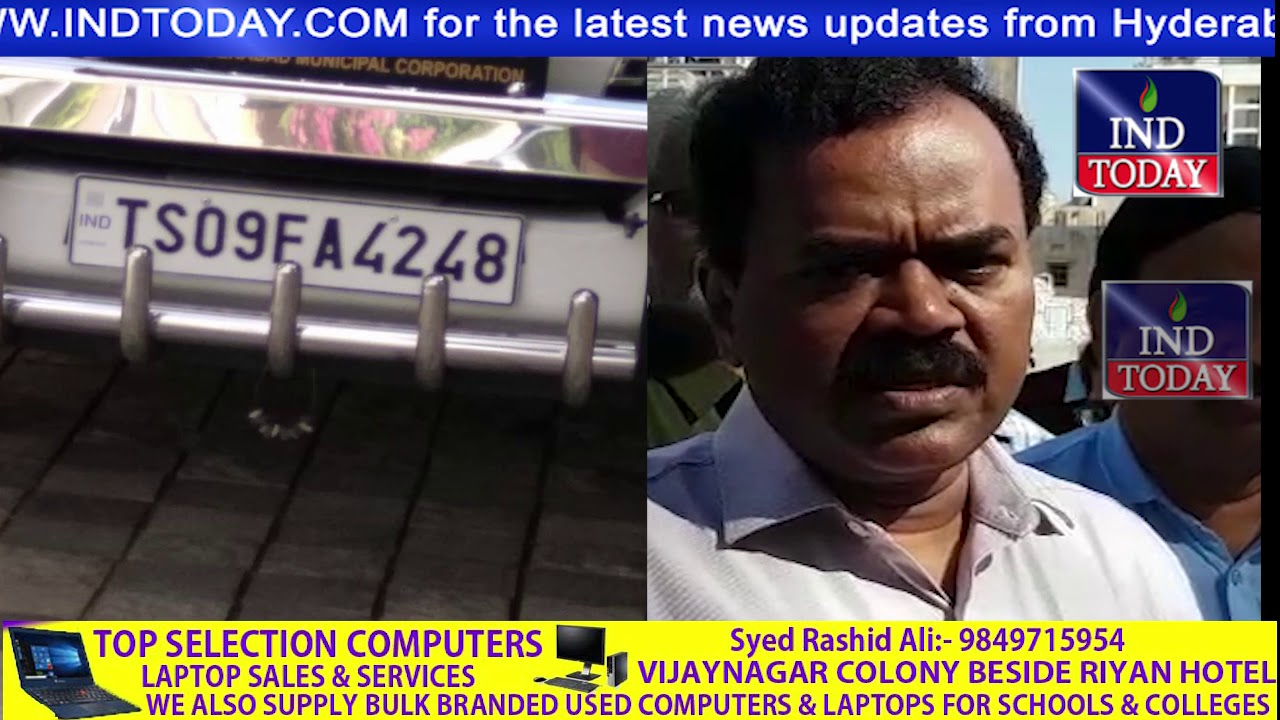 hd video : GHMC Commissioner Vehicle involved in Over speeding