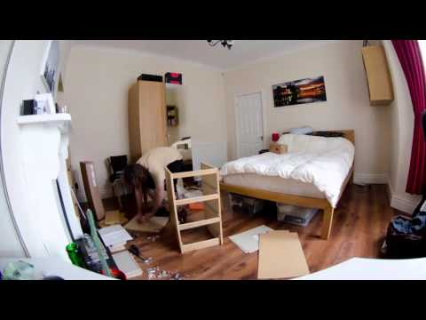 How To Build An Ikea Malm Bedside Cabinet - Timelapse Assembly