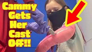 Watch Cammy Get Her Cast Off!! *Cammy Broke Her Arm Part 2* New Sopo Squad Vlog!