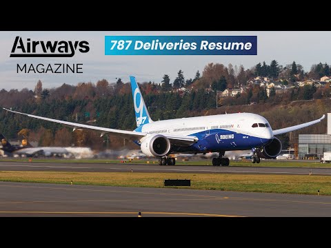Boeing 787 Delivery Resumes